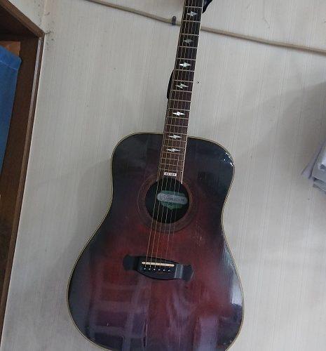 シオハラさん・真剣にギターの練習をする